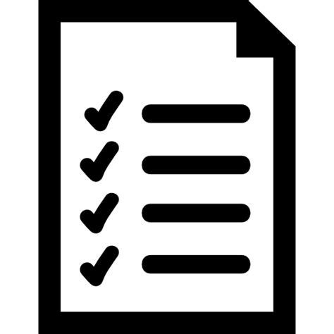 Documento de lista símbolo de interfaz   Iconos gratis de ...