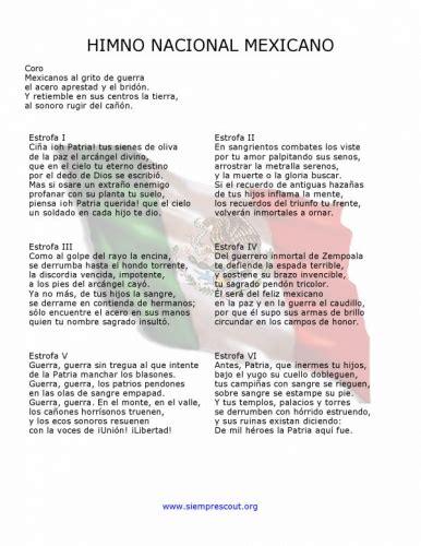 Documento Estrofas del himno Nacional Mexicano - grupos ...