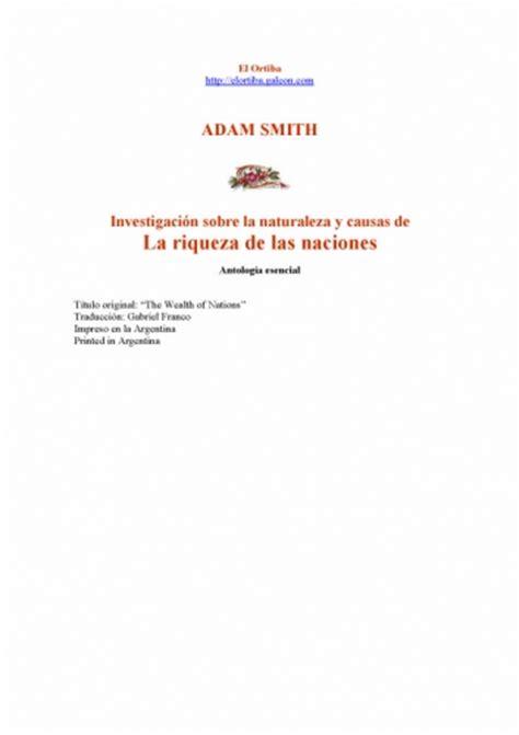 Documento Smith, Adam   La riqueza de las naciones ...