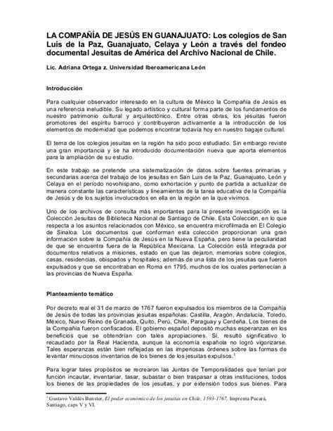 Documentos sobre los colegios jesuitas en Guanajuato
