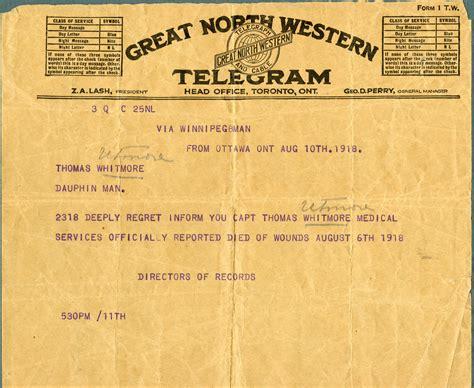 Documents militaires - Le télégramme | Le Canada et la ...