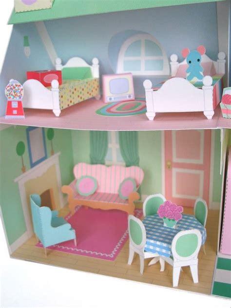 Dollhouse Furniture Printable Paper Craft PDF