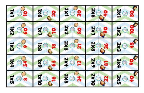 domino de las multiplicaciones - Imagenes Educativas