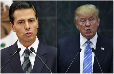 Donald Trump and the president of Mexico are fighting on ...