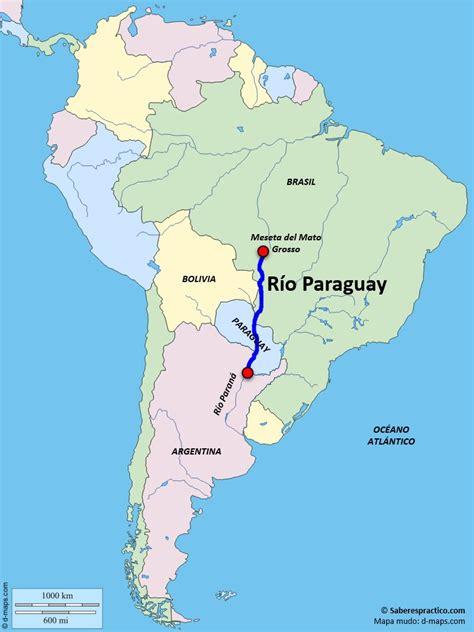¿Dónde está el río Paraguay?  con mapa    Saber es práctico
