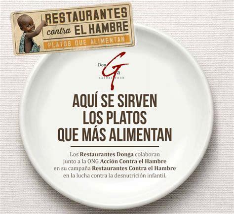 Donga se suma a la campaña Restaurantes Contra el Hambre ...