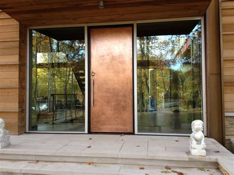 Doors: interesting metal entry door Residential Steel ...