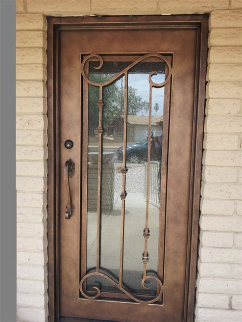 Doors. interesting metal entry door: terrific-metal-entry ...