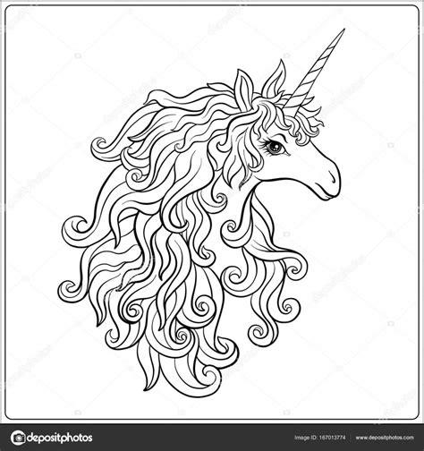 Dorable Unicornio Para Colorear Para Imprimir Motivo ...
