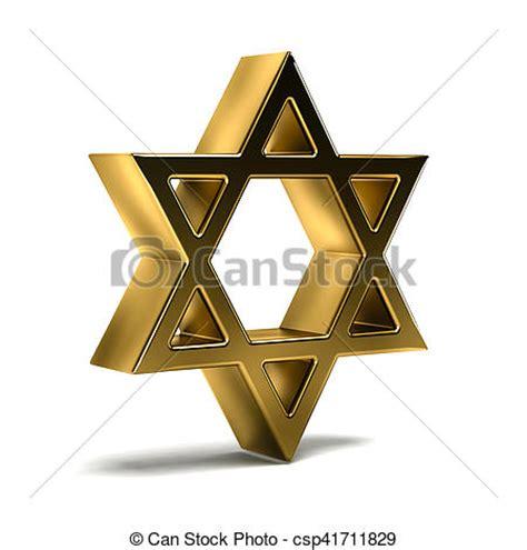 Dorado, judaísmo, star., símbolo., ilustración, david ...