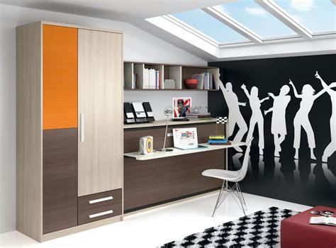 Dormitorio infantil juvenil moderno Literas abatibles 69  F215
