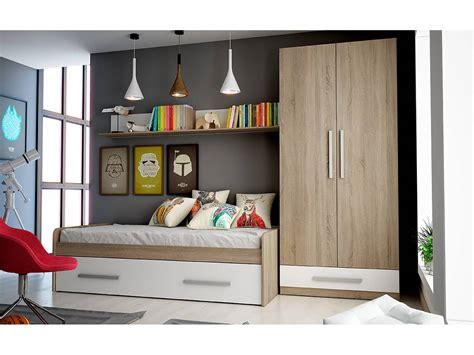Dormitorio juvenil completo colores cambrian y blanco
