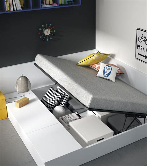 Dormitorio juvenil con cama tipo tatami