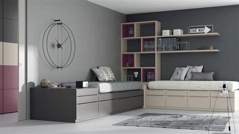 Dormitorio juvenil con dos camas