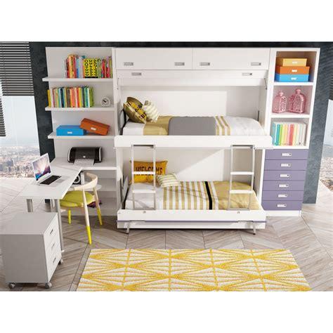 Dormitorios con Literas Abatibles Verticales Cuadruples