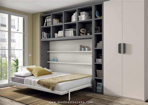 Dormitorios juveniles con camas abatibles para aprovechar ...