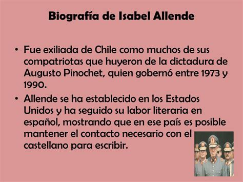 Dos palabras por Isabel Allende   ppt descargar