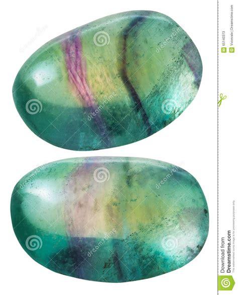 Dos Piedras Preciosas Verdes Del Fluorito  fluorina  Foto ...