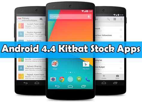Download Android 4.4 Kitkat Stock Apps To Re-Designed Your ...
