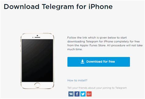 Download free Telegram for iPhone