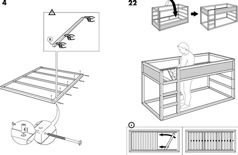 Download IKEA KURA REVERSIBLE BED 38X75  Assembly ...
