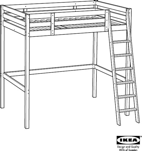 Download IKEA STORÃ LOFT BED FRAME FULL/DOUBLE Assembly ...