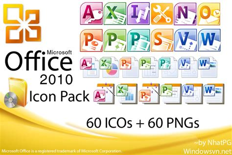 Download Microsoft Office 2010 IconPack   Free
