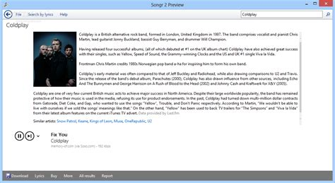 Download Songr Portable 2.1 Build 2016 01 11 Preview