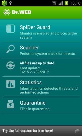Dr.Web Android antivirus gratis en español