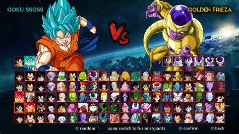 dragon ball game roster by almej on DeviantArt