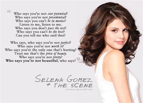 Draw me songs, sing me sweet, Selena Gomez & The Scene ...