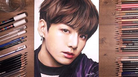 Drawing BTS: Jungkook 정국 | drawholic - YouTube