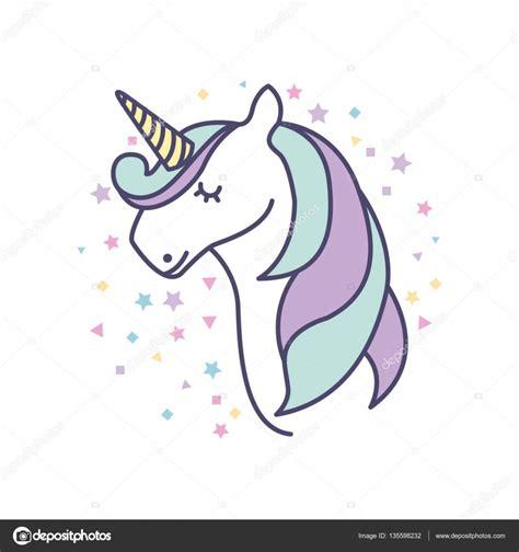 drawing cute unicorn icon — Stock Vector © yupiramos ...