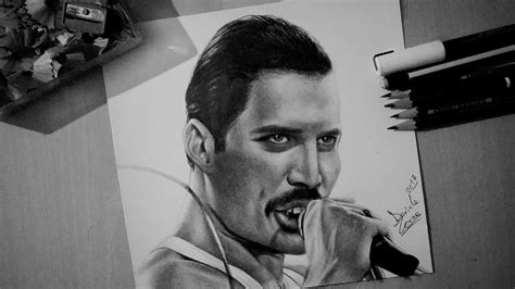 Drawing Freddie Mercury from  Queen    YouTube