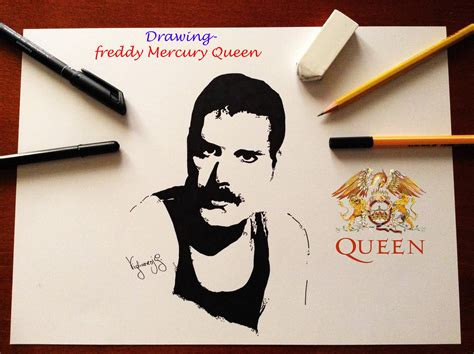Drawing Freddie Mercury - Queen - YouTube