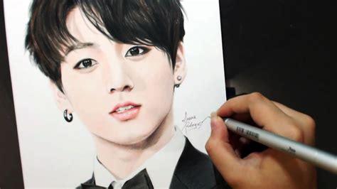 Drawing JUNGKOOK 전정국 [BTS] [방탄소년단] - YouTube
