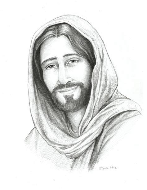 Drawing of Christ Sketch of Jesus Religious Art Savior of