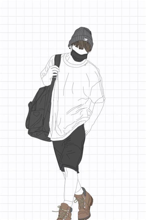 Drawing of Jungkookie ???? music cute bts jungkook d...