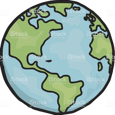Drawing Of Planet Earth In Cartoon Form stock vector art ...