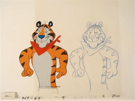Drawing Original Tony the Tiger Cel Animation Dreaming