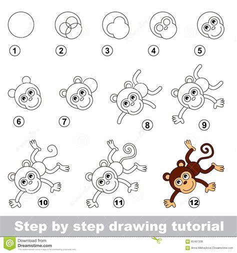 Drawings Of Monkeys Step By Step : Kids Coloring   europe ...
