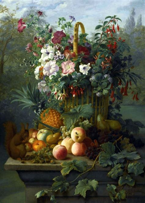 Dutch School — Still Life with Flowers, Fruit and a ...