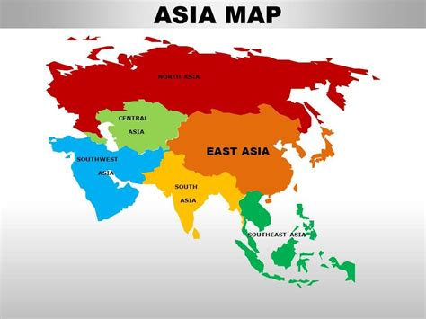 East Asia Continents PowerPoint maps   PowerPoint ...
