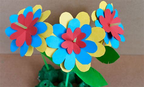 Easy Craft Paper Flowers | ye craft ideas