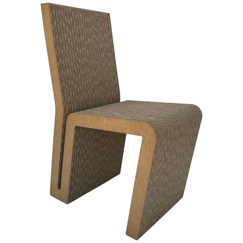 Easy Edges Cardboard Side Chair by Frank Gehry For Sale at ...