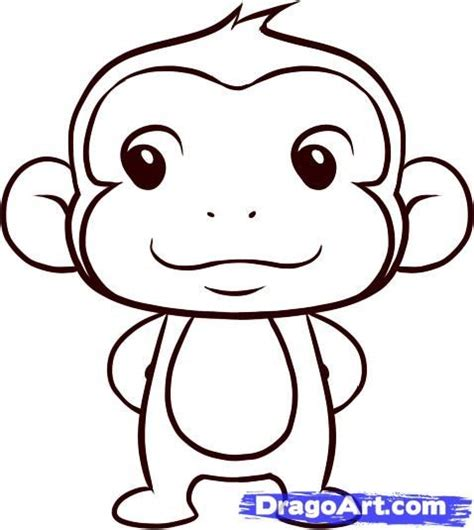 easy monkey sketches   Google Search | Baby stuff ...