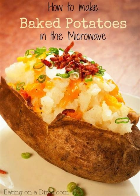Easy to make Microwave Baked Potatoes   Eating on a Dime