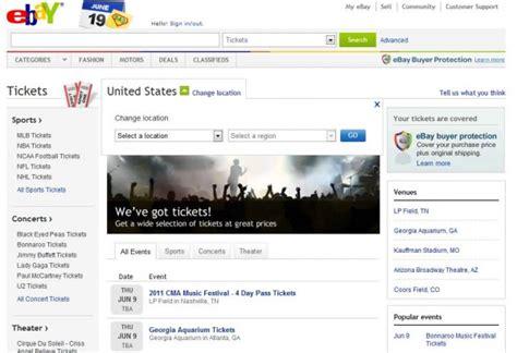 Ebay lanza Tickets, para compra y venta de entradas