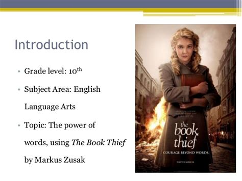 Ed 370 Resource Summary on The Book Thief