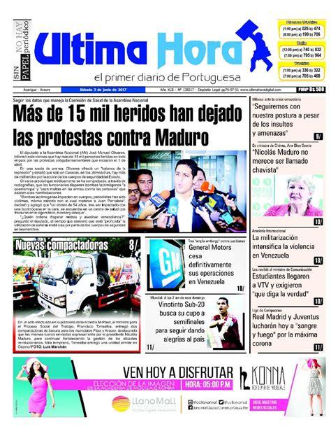 Edición 03 06 2017 by Ultima Hora - El primer diario de ...